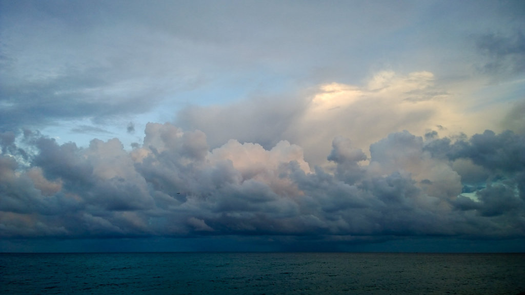 Stormy end of day on Ionian sea (Roccella Ionica)